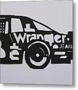 Number 3 Car Wrangler Metal Print