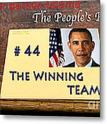 Number 44 - The Winning Team Metal Print by Terry Wallace
