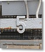 Number Five Metal Print