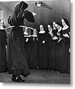 Nun Swivels Hula Hoop On Hips Metal Print