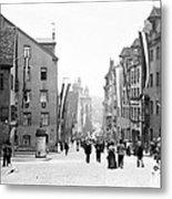 Nuremberg Street Scene 1903 Vintage Photograph Metal Print