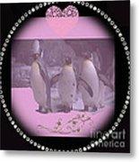 Nursery And Childrens Series Penguins Metal Print
