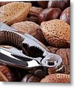 Nutcracker And Whole Nuts Metal Print