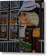 Nutcracker Statue In Downtown Grants Pass Metal Print