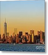 Ny Skyline At Sunset Metal Print