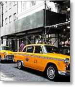Ny Streets - Yellow Cabs 1 Metal Print