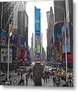 Ny Times Square Metal Print
