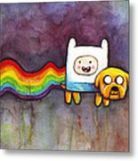 Nyan Time Metal Print by Olga Shvartsur