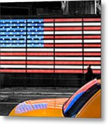 Nyc Cab Yellow Times Square Metal Print