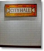 Nyc City Hall Subway Station Metal Print