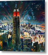 Nyc In Fourth Of July Independence Day Metal Print