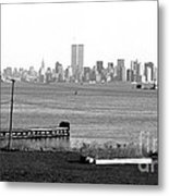 Nyc In The Distance 1990s Metal Print by John Rizzuto