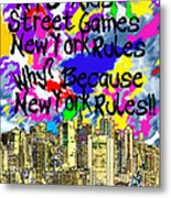Nyc Kids' Street Games Poster Metal Print