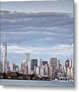Nyc On A Cloudy Day Metal Print