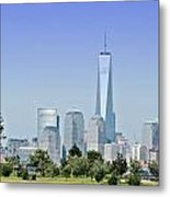 Nyc Skyline From The Park - Image 1666-01 Metal Print