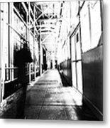 Nyc Street High Key Metal Print