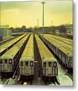 Nyc Subway Cars Metal Print