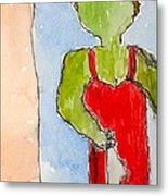 Nyc Transit Authority - Number Ten - From Postcards-to-myself Series Metal Print