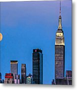 Nyc Under The Supermoon Metal Print