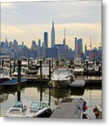 Nyc View From Lincoln Harbor Weehawkin Nj Metal Print