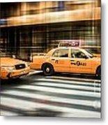 Nyc Yellow Cabs Metal Print