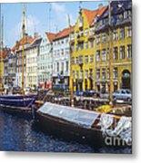 Nyhavn Boat Docks Metal Print