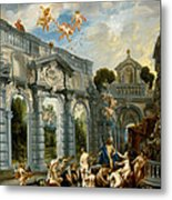 Nymphs At The Fountain Of Love Metal Print