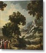 Nymphs Turning The Apulian Shepherd Into An Olive Tree Metal Print