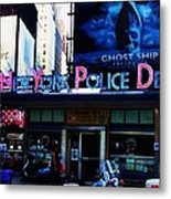 Nypd Time Square Metal Print