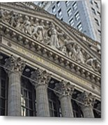 Nyse  New York Stock Exchange Wall Street Metal Print