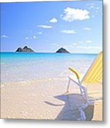 Oahu Lanikai Beach Metal Print