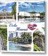Oahu Postcard 2 Metal Print