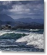 Oahu Surf Metal Print