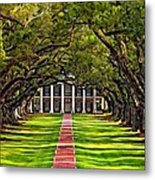 Oak Alley Metal Print by Steve Harrington