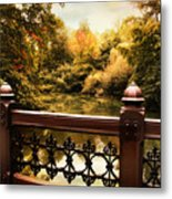 Oak Bridge Autumn Metal Print