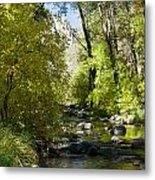 Oak Creek Canyon Creek Arizona Metal Print