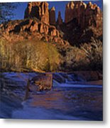 Oak Creek Crossing Sedona Arizona Metal Print