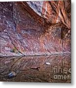 Oak Creek Reflection Metal Print