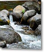 Oak Creek Water And Rocks Metal Print