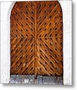 Oak Double Door Metal Print