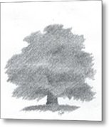 Oak Tree Drawing Number Five Metal Print by Alan Daysh