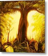 Oak Tree Lake-original Sold- Buy Giclee Print Nr 33 Of Limited Edition Of 40 Prints  Metal Print