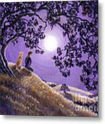 Oak Tree Meditation Metal Print