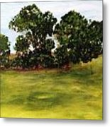 Oak Trees Metal Print by Andrea Friedell