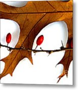 Oak With Berries Metal Print