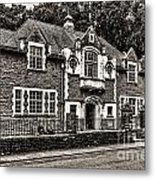 Oakdale Workmens Institute Mono Metal Print