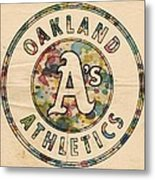 Oakland Athletics Poster Vintage Metal Print