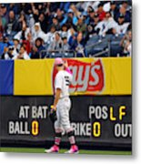 Oakland Athletics v. New York Yankees Metal Print