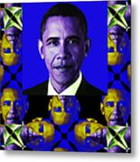 Obama Abstract Window 20130202verticalm118 Metal Print