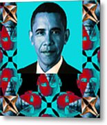 Obama Abstract Window 20130202verticalm180 Metal Print